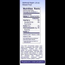 nutrition facts welch s fruit snacks reduced sugar