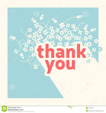 Thank You Card Design Template Stock Vector Illustration Of