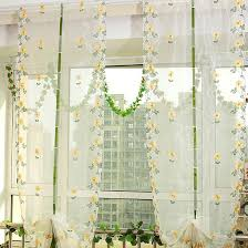 fresh daisy fl yellow gauze sheer curtains yellow curtains sheer