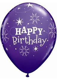 Birthday Sparkle Happy Birthday Purple Colour Assortment 11in Latex