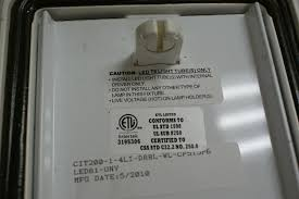 cit series led vapor tight wet location fixture