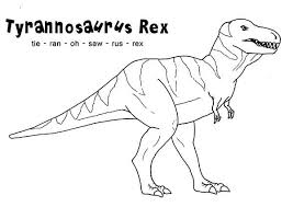 Small Picture How to Spell T Rex Coloring Page Color Luna