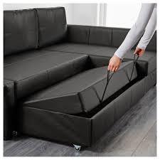 widely friheten corner sofa bed with storage bomstad black throughout sofas