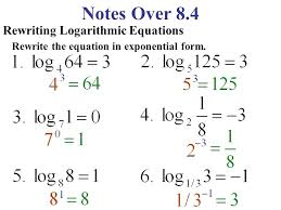 logarithmic equation in exponential form math 2 notes over rewriting logarithmic equations rewrite the equation in