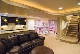 basement ideas for kids. Basement With Bar And Kids Play Area- Entertain In A Kid Friendly Environment! Ideas For
