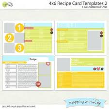 pages recipe card template full page