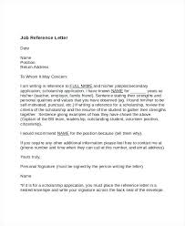 sample recommendation letter for scholarship from employer free sample recommendation letter from employer bigdatahero co