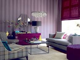 Purple Living Room Chairs Bedroom Sweet Teeny Decoration With Purple Wall Color Interior