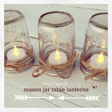 Glass Jar Table Decorations Mason Jar Table Lanterns Simplykierste 21