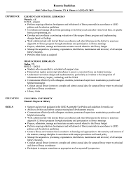Sample Librarian Resume School Librarian Resume Samples Velvet Jobs 7