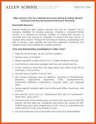 Medical Coding Resume Medical Coding And Billing Resume Allied Student Resume Medical