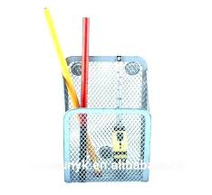 wall mounted pen holder hanging pencil metal mesh magnetic container marker