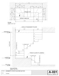 Drawing Fire Escape Stair Dimensions Visit Deck Railing Http Deck Stairs Code Width