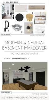 Home Post Box Designs 4 Rooms A Modern Neutral Basement Makeover Bonus Room