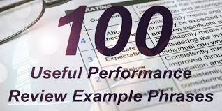 Performance Appraisals Examples 100 Useful Performance Review Example Phrases