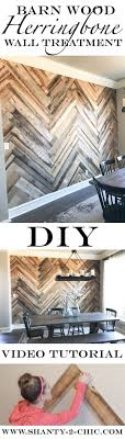 DIY Barn Wood Herringbone Wall Treatment and a Giveaway!