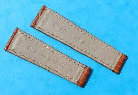 original new rolex of geneva 20mm daytona genuine crocodile leather band brown color