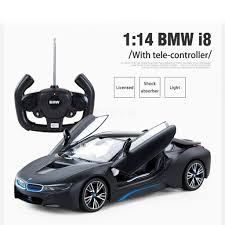 RASTAR BMW i8 USB Rechargeable RC Car Toys 1/14 Scale Model with ...