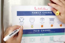 Kids Printable Chore Chart To Earn Money House Mix