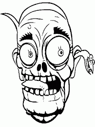 children scary zombie colouring pages
