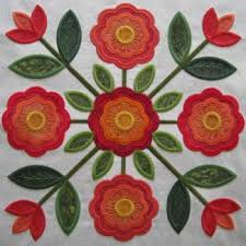 97 best Applique: Rose of Sharon images on Pinterest | Quilt block ... & Design Information at KennyKreations - Beautiful Machine Embroidery:  Traditions Rose of Sharon Quilt, Quilts Adamdwight.com