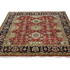 3 x3 hand knotted red karajeh design pure wool square oriental rug