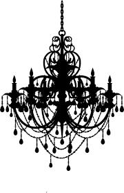 chandelier clipart stencil 4