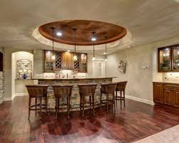 basement wet bar design. Example Of A Classic Galley Dark Wood Floor And Brown Seated Home Bar Design In Basement Wet E