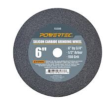 Oregon Grinding Wheel Chart Powertec 15508 1 2 Arbor 150 Grit Silicon Carbide Grinding Wheel 6 X 3 4