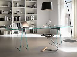 bookcases for home office modern glass computer desk modern glass