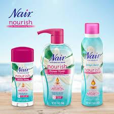 nair hair remover nourish sprays away