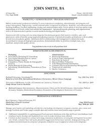 Best Administrative Resume Click Here To Download This Marketing And
