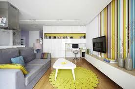 Interior design blending contemporary minimalist and pop art styles