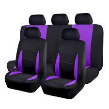 black purple universal car seat covers set 11 pc auto seat cover seat protect