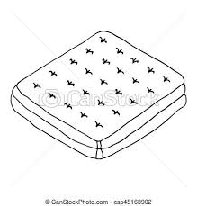 mattress drawing. Simple Mattress Mattress Hand Drawn Illustration Sketched Vector Isolated Object On White  Background For Mattress Drawing 3