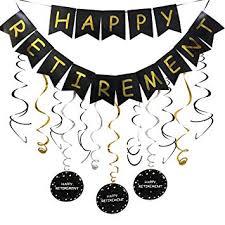retirement banner clipart amazon com happy retirement banner and happy retirement hanging