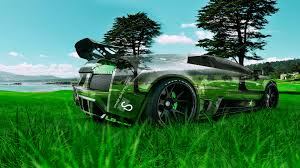 lamborghni murcielago tuning crystal nature car