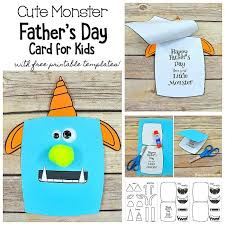 Free Templates For Kids Monster Fathers Day Card Craft For Kids With Free Templates Buggy