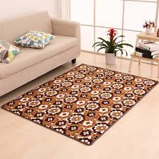 Deep color Flowers area rugs Kitchen carpet Home Decor mats in