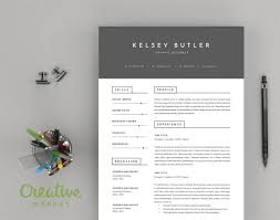 Cover Letter And Resume Templates Two Page Minimal Resume Template And A Cover Letter