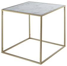 gold coast faux marble end table gold faux marble