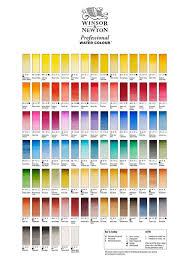 Watercolor Chart Winsor Newton Winsor Newton Artists Professional Watercolour Paint 5ml