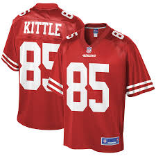 Scarlet Kittle Pro Nfl Team Player George Youth San Line 49ers Jersey Francisco