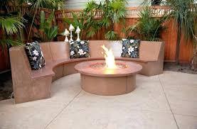 decorative concrete patio concrete garden bench seat style decorative concrete patio w waterfall fire pit bench