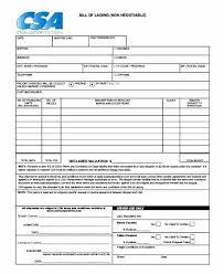 bill of loading ocean bill of lading template