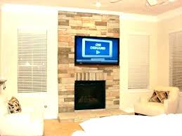 installing tv fireplace mounting a over without studs how to mount above hanging