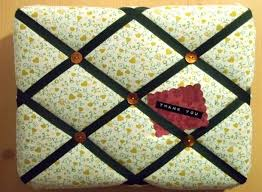 How To Make A Padded Memo Board to Make and Do Fabric Covered Notice Board 1