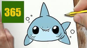 Comment Dessiner Requin Blanc Kawaii Tape Par Tape Dessins