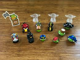 Angry Birds Go Telepods Kart Racers Pirate Pigs Trophy Base Lot 14 Figures  w QR
