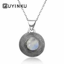dels about guyinku 925 silver natural antique moonstone pendant hip hop jewelry whole